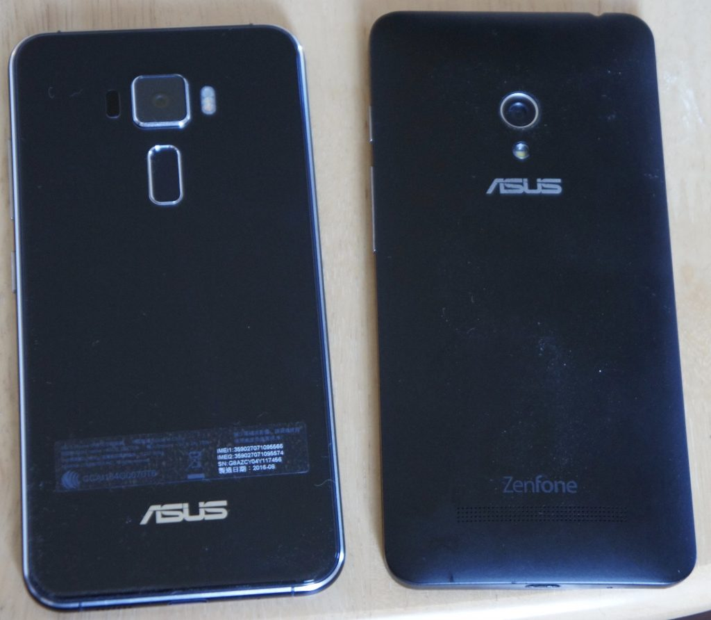 Zenfone3とZenfone5の比較